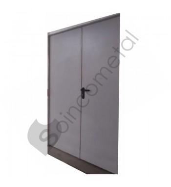 Porta 2 folhas Cf 60 Ral 7035