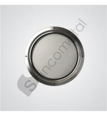Óculo inox PC 60m porta 57mm
